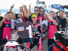 +EGO Speed Up celebración pole. Fuente: MotoGP
