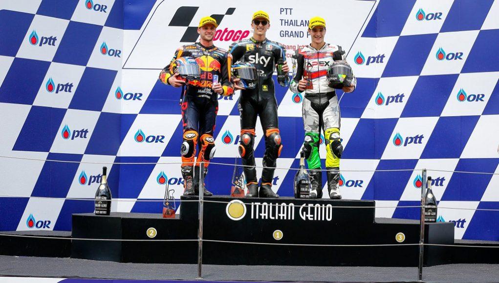 Podio Gran Premio de Tailandia. Fuente: MotoGP